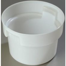 Polyethylene White Bains Marie Round Food Storage Container