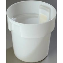 Polyethylene White Bains Marie Food Storage Container