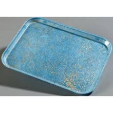 Glasteel Starfire Blue Fiberglass Decorative Metric Tray