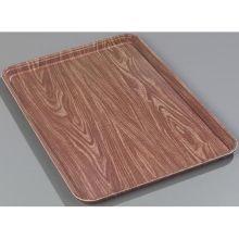 Glasteel Fiberglass Pecan Wood Grain Display Bakery Tray