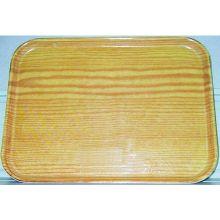 Glasteel Fiberglass Light Oak Wood Grain Display Bakery Tray