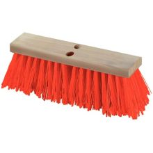16 inch Heavy Polypropylene Orange Sweep