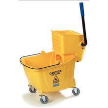Flo Pac Yellow Bucket Wringer with Down Press