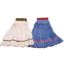 Flo Pac 4 Ply Premium Small Natural Synthetic Cotton Blend Looped End Wet Mop
