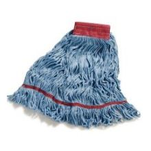 Flo Pac 4 Ply Large Blue Synthetic Cotton Blend Looped End Wet Mop