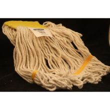 Flo Pac 4 Ply 5 inch Head Band Small Natural Cotton Yarn Looped End Wet Mop