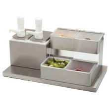 18-8 Stainless Steel Condiment Station