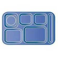 Slate Blue Space Saver 6 Compartment Right-Hand Melamine Tray 14.97 x 8.98 x 0.87 inch