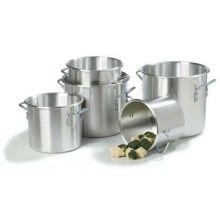 Carlisle Traditional Weight Stain Finish Aluminum Stock Pot - 10 Quart