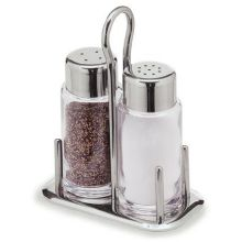 Carlisle Glass and Stainless Steel Salt and Pepper Set