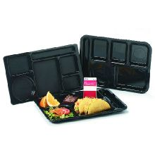 Tan ABS 6 Compartment Right-Hand Tray 14.37 x 10 x 0.69 inch