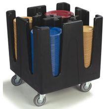 Polyethylene Black 4 Adjustable Dividers Optimizer Small Dish Dolly