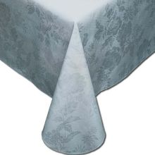 Marko Vinyl Classic Series Damask Lace Pattern Assisted Feeding Table Cover White Color 56 x 80 inch