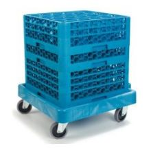 Polypropylene E Z Glide Glass Rack Dolly Cart without Handle