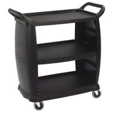 Polypropylene Black Small Bussing and Transport Cart