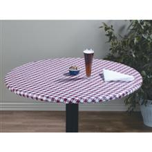 Marko Vinyl Classic Series Satellite Pattern Elasticized Form Fitted Tablecloth 31 inch