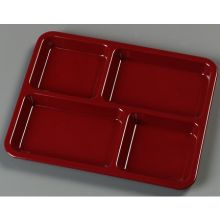 Forest Green Melamine 4 Compartment Tray
