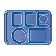 Tan Economical Durable Polypropylene 6 Compartment Right-Hand Tray 14.37 x 10 x 0.75 inch