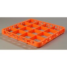 Polypropylene Orange 16 Compartment Divided Extender for OptiClean Color Coded Glass Rack
