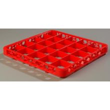 Polypropylene Red 25 Compartment Divided Extender for OptiClean Color Coded Glass Rack