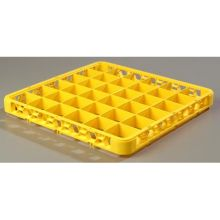 Polypropylene Yellow 36 Compartment Divided Extender for OptiClean Color Coded Glass Rack