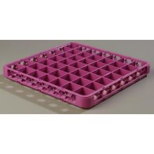 Polypropylene Lavender 49 Compartment Divided Extender for OptiClean Color Coded Glass Rack