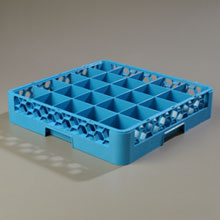 without Extender Polypropylene Blue OptiClean 25 Compartment Glass Rack