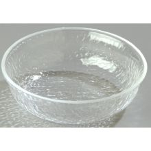 Clear Round Acrylic Pebbled Shower Bowl