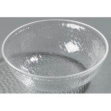 Clear Round Acrylic Pebbled Shower Bowl 1 Quart
