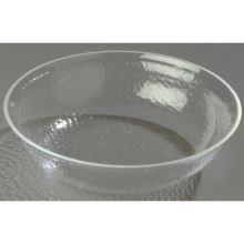 Clear Round Acrylic Pebbled Shower Bowl 2 Quart