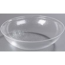 Clear Round Acrylic Pebbled Shower Bowl 24 Quart