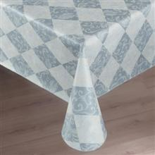 Marko Vinyl Expression Series Catalina Pattern Second Tablecloth Round Overlay 30 inch