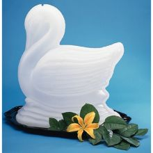 Polyethylene White Ice Sculptures Swan