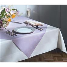 Marko Vinyl Classic Series Moire Pattern Pointed Corner Square Table Overlay 33 x 33 inch