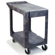 Polypropylene Grey Flat Shelf Utility Cart