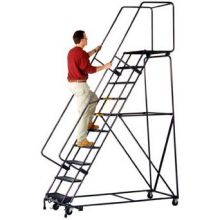 Tough M2000 Series Rolling 8 Step Safety Ladder 24 x 61 inch