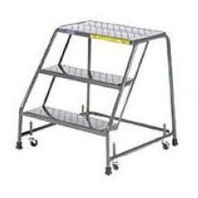 Tough Standard 3 Step Rolling Ladder with Handrails 20 x 25 inch