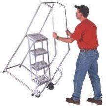 Tough 6 Step Aluminum Tilt and Roll Ladder