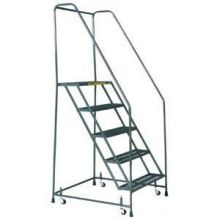 Tough Standard 3 Step Rolling Ladder with Handrails 30 x 25 inch
