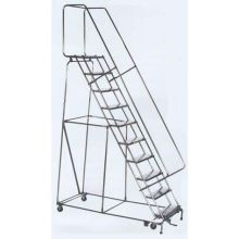 Tough T304 Stainless Steel 8 Step Lockstep Ladder 24 x 61 inch