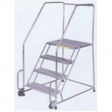 G Tread Tough Stainless Steel 4 Step Tilt and Roll Ladder