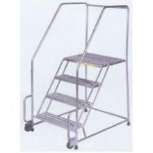 P Tread Tough 6 Step Stainless Steel Tilt and Roll Ladder
