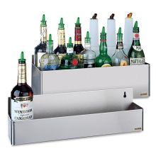 Double Tier Stainless Steel Speed Rack Bottle Holder
