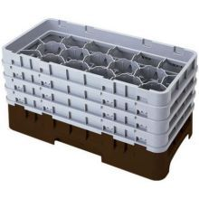 SoftGray Camrack Half Size 17 Compartment Glass Rack