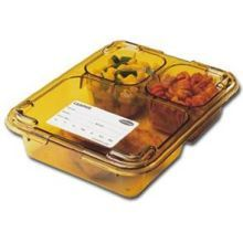 Amber Lid for 3 Compartment Insert Tray