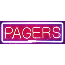 Neon Pagers Sign