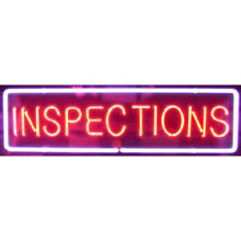 Neon Inspections Sign