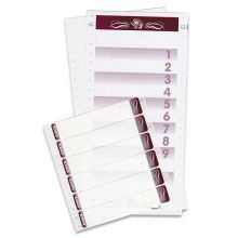 Dinex 2 Panel Blank Laser-Compatible Tray Ticket Sheet - Unprinted 8 1/2 x 11 inch