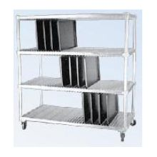 Full Size Drying Mobile Rack for Flat Tray