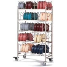 Dinex Stainless Steel Dome Mobile Storage Rack Only 44 x 22 x 78 inch